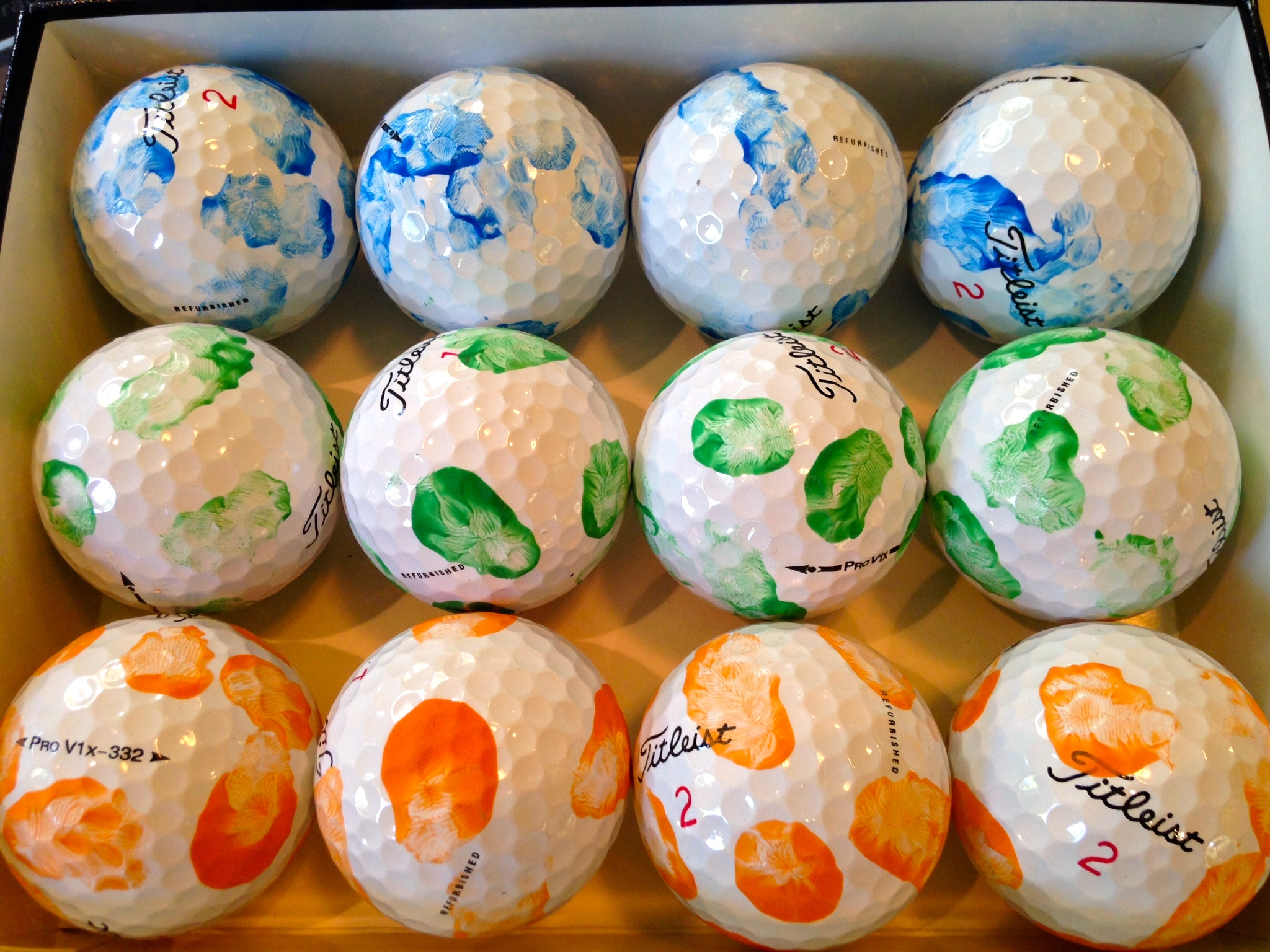 Fathers day gift ideas the pink daily this is more of a keepsake item than actual golf balls that dad can use i think the paint would actually come off if they are used or get wet negle Gallery